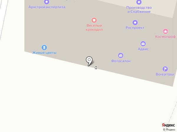 Веселый крокодил на карте Архангельска