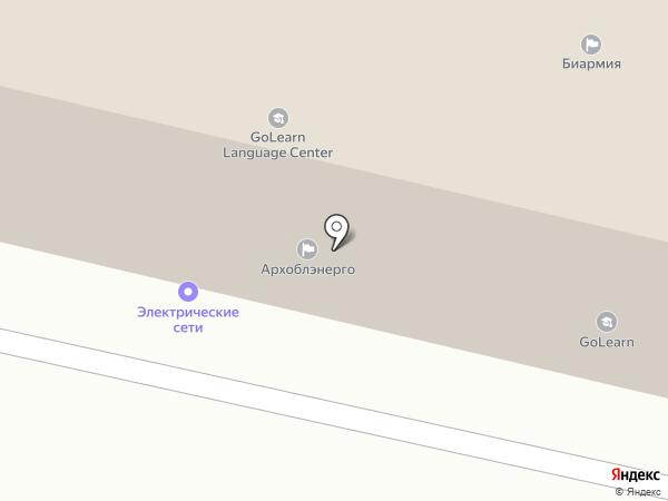Север МН на карте Архангельска