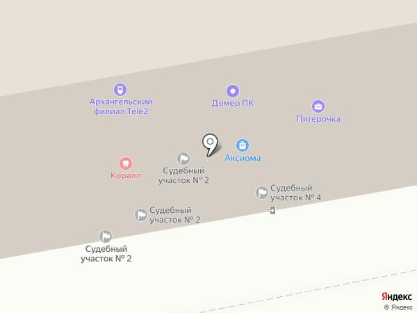 Северный центр на карте Архангельска