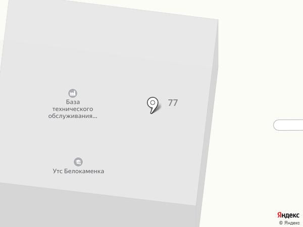 База технического обслуживания на карте Архангельска