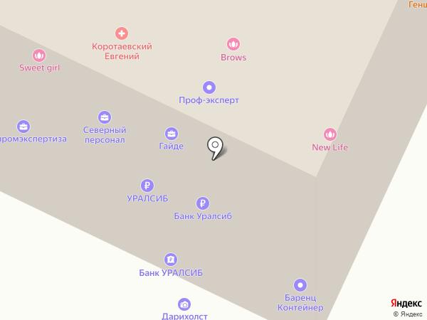 Банкомат, Банк Уралсиб, ПАО на карте Архангельска