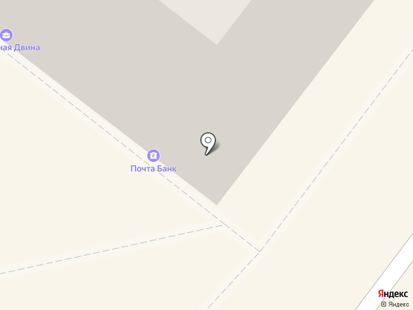 Банкомат, Почта Банк, ПАО на карте Архангельска