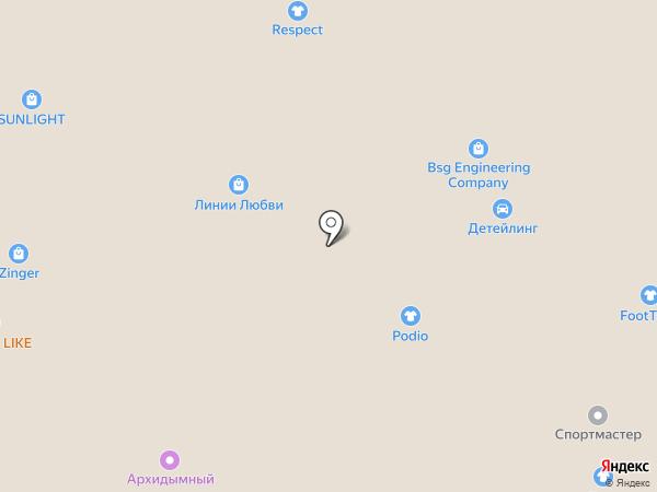 В ЕвроПарке на карте Архангельска