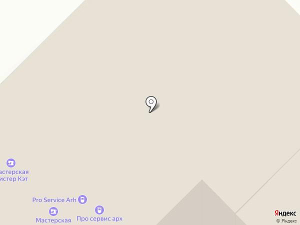 Два бочонка на карте Архангельска