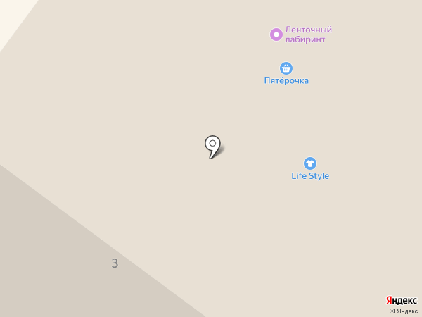 Зебра на карте Архангельска
