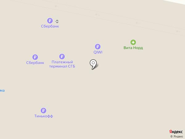 Карта Вин на карте Архангельска