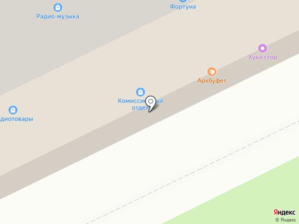 Пекарня-кондитерская на карте Архангельска