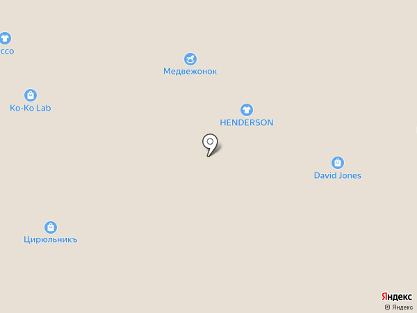 Цирюльникъ на карте Архангельска