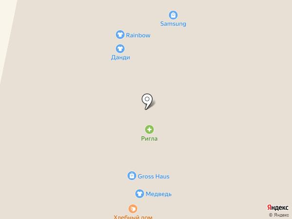 Данди на карте Архангельска