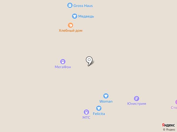 Хлебный дом на карте Архангельска