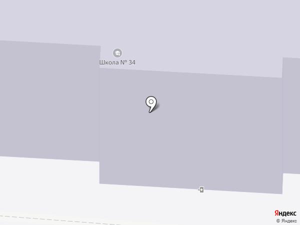 Средняя школа №34 на карте Архангельска