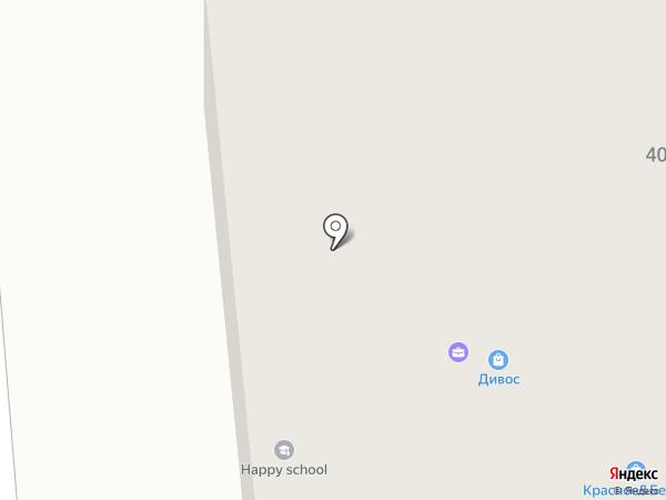 Ирис на карте Новодвинска