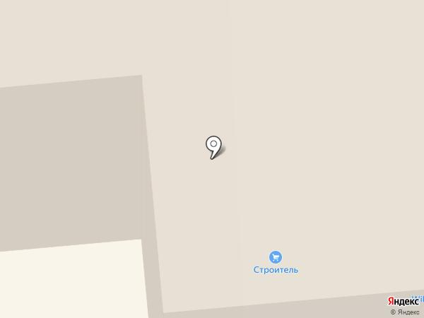 Омега на карте Новодвинска