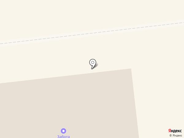 Забота, МУП на карте Новодвинска