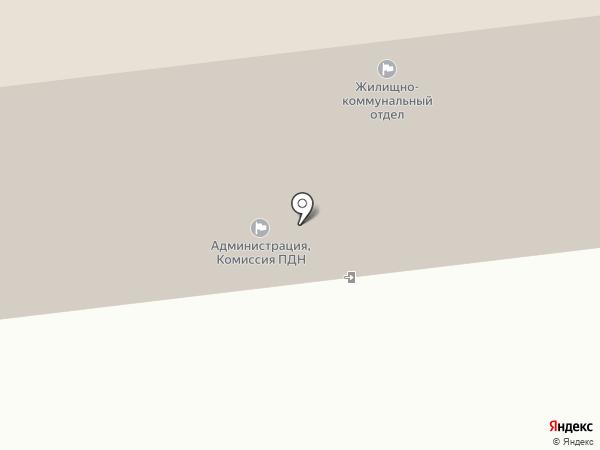 Военно-учетный отдел на карте Новодвинска