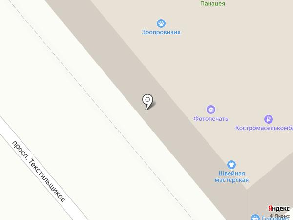 Панацея на карте Костромы