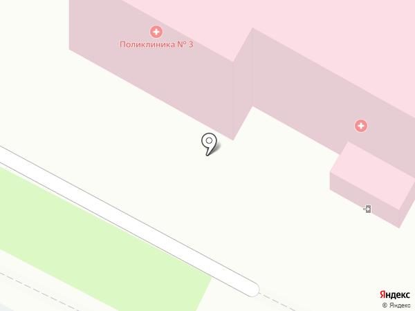 Поликлиника №3 на карте Костромы