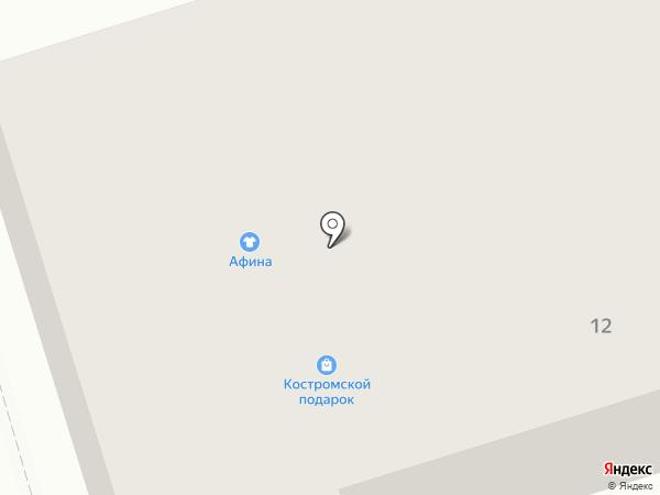Карельский Монументъ на карте Костромы