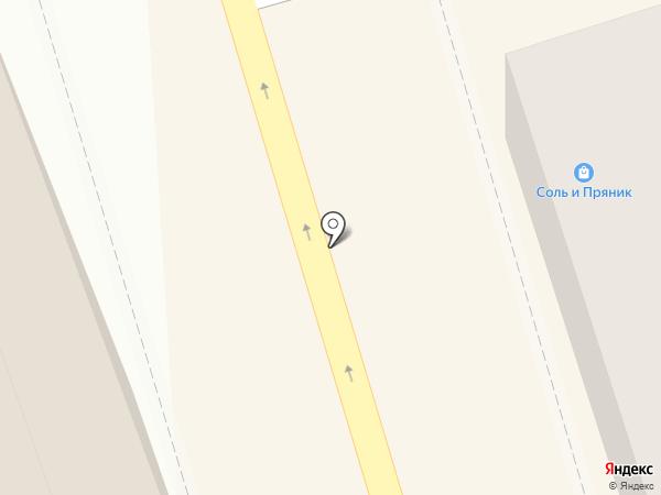 Зеленый шар на карте Костромы