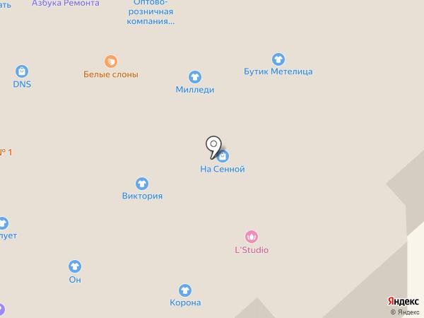Силует на карте Костромы