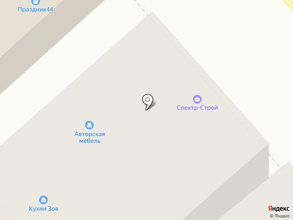 Авизо на карте Костромы