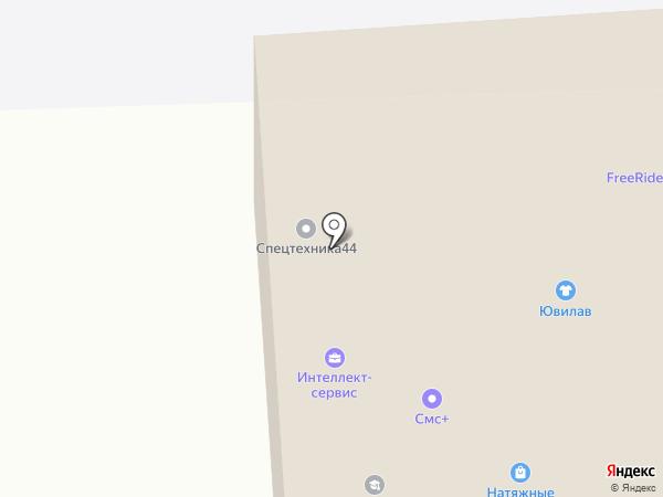 Гавриловский карьер на карте Костромы