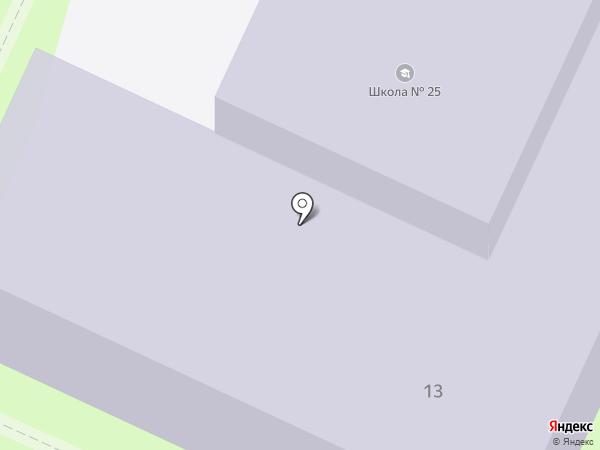 Основная общеобразовательная школа №25 на карте Иваново