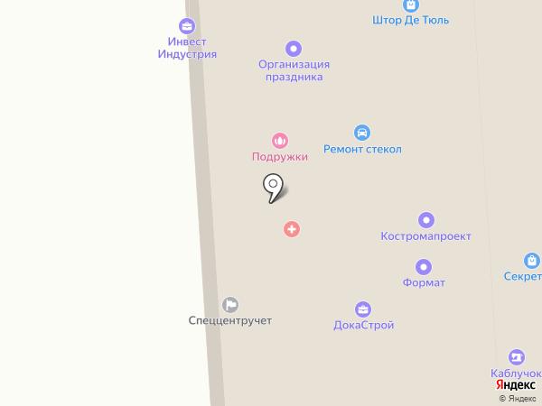 Каблучок на карте Костромы