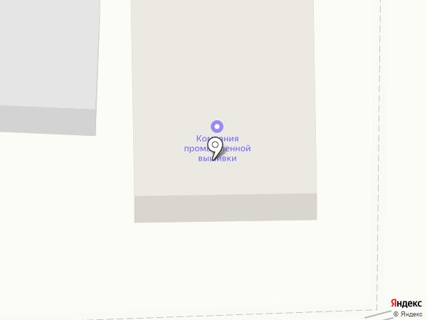 Промышленная вышивка на карте Иваново