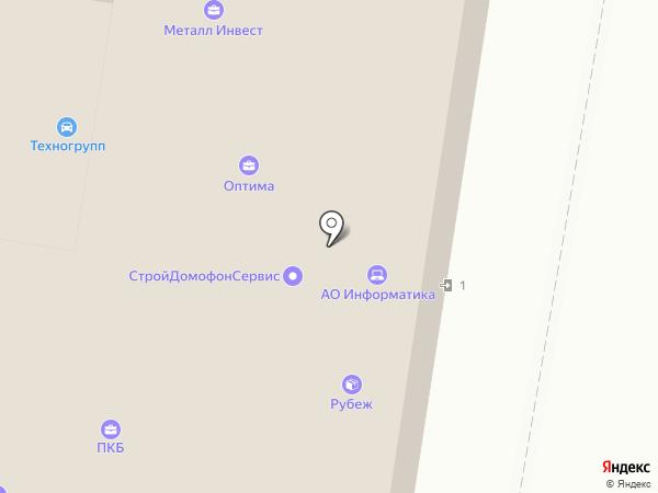 Рубеж на карте Иваново