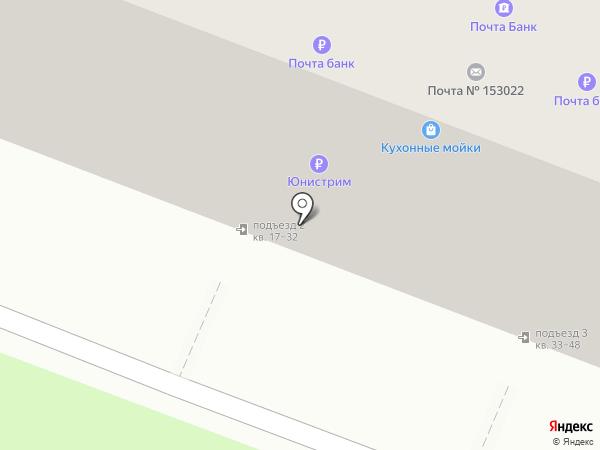 Почтовое отделение №22 на карте Иваново