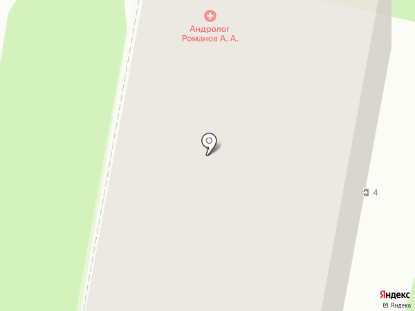 Андрологический кабинет доктора Романова А.А. на карте Иваново