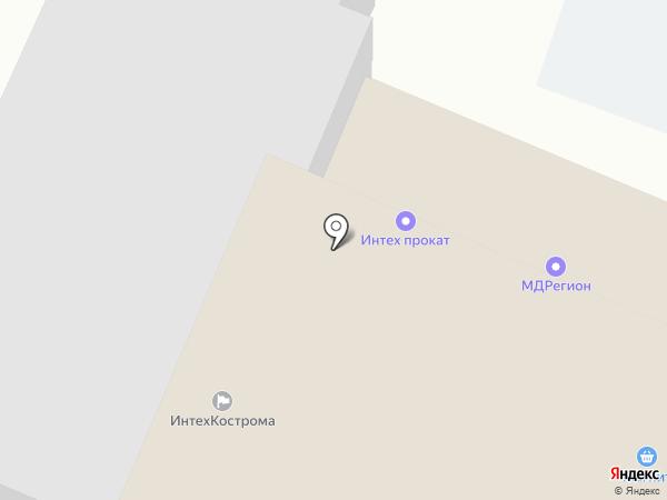 Крендель на карте Костромы