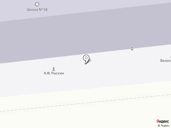 Средняя общеобразовательная школа №58 на карте Иваново