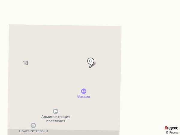 Отделение почтовой связи пос. Апраксино на карте Апраксино
