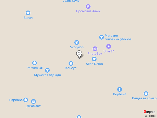 Банкомат, Газпромбанк на карте Иваново