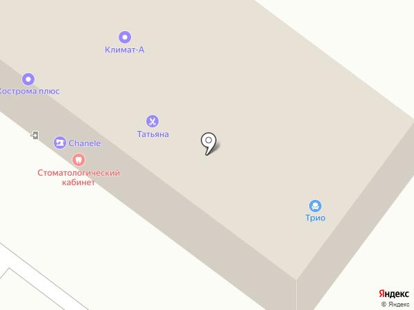 Трио на карте Костромы