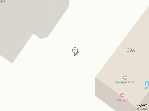 Костромской на карте Костромы