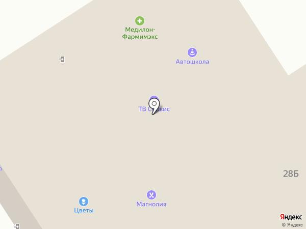 Мята на карте Костромы