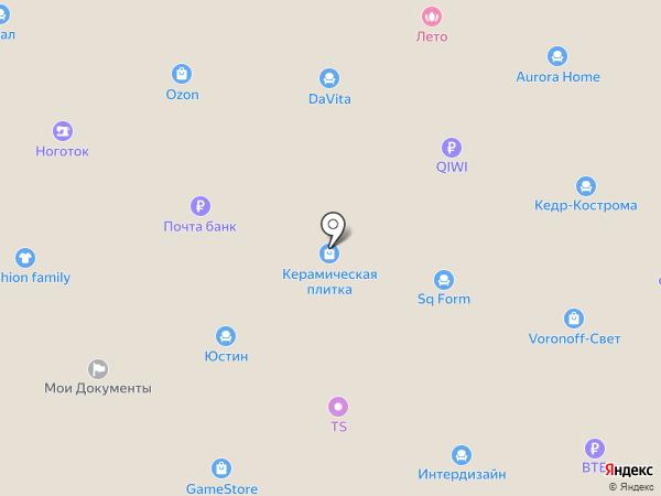 Медынь на карте Костромы
