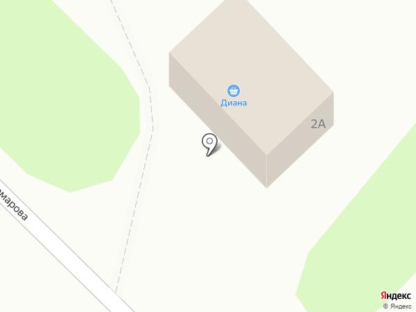 Диана на карте Глубокого