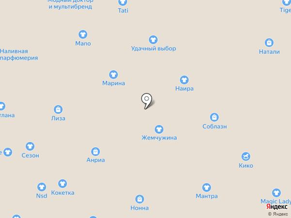 Магазин джинсовой одежды на карте Иваново