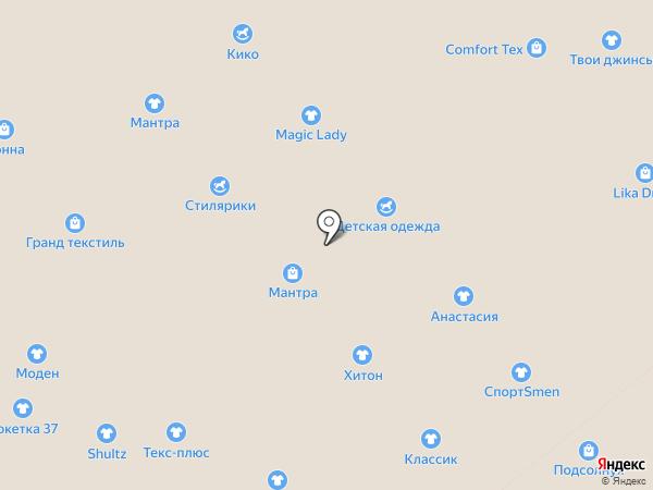 Роза-текстиль на карте Иваново