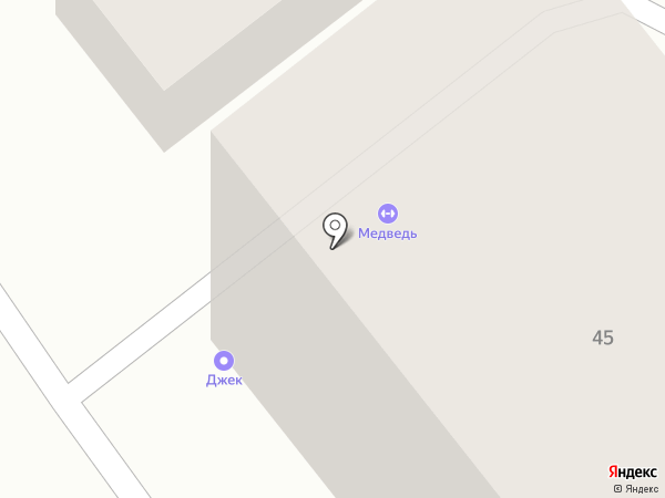Медведь на карте Армавира