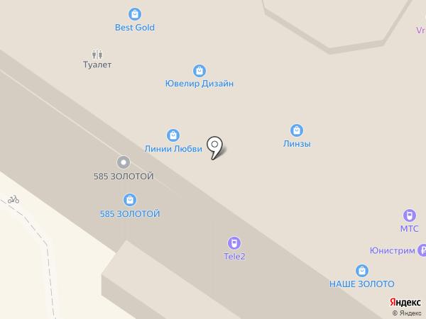 Линии Любви на карте Армавира