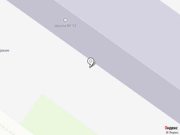Средняя общеобразовательная школа №12 на карте Армавира