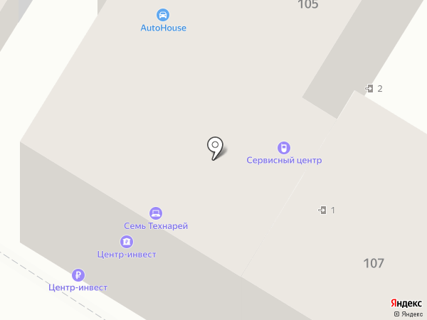 Транскапиталбанк на карте Армавира