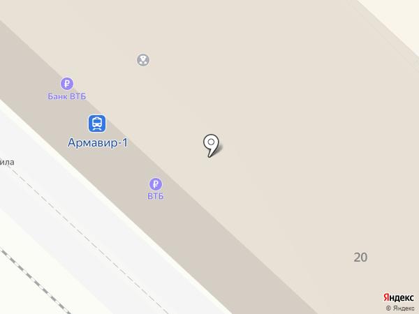 Вокзал Армавир-Ростовский на карте Армавира