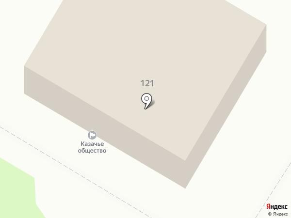 Лабинский отдел Кубанского казачьего войска на карте Армавира