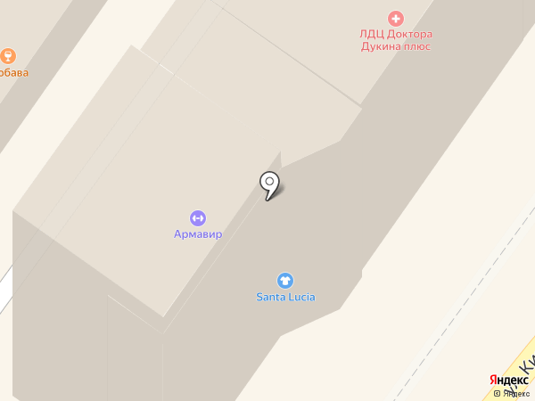 Богатырь на карте Армавира